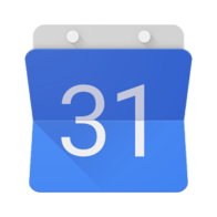 "Google Calendar logo — it's a blue square with a white ""31"" on it"