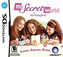 My secret world by imagine video game cover—features three girls play this Nintendo DS game