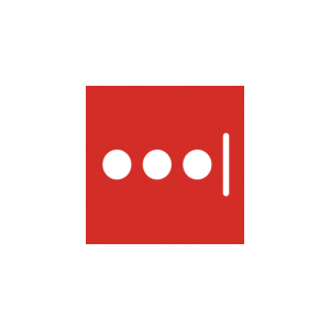 Lastpass logo — it's a red square with three white dots and a white vertical line