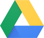 Google Drive logo — it's a triangle with green, yellow, and blue sides
