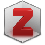 Zotero logo—a gray hexagon that also looks, like the corner of a room, with a 3D-red Z in it