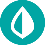 Mint logo—a teal circle with a half white, half-teal raindrop-shaped white outline